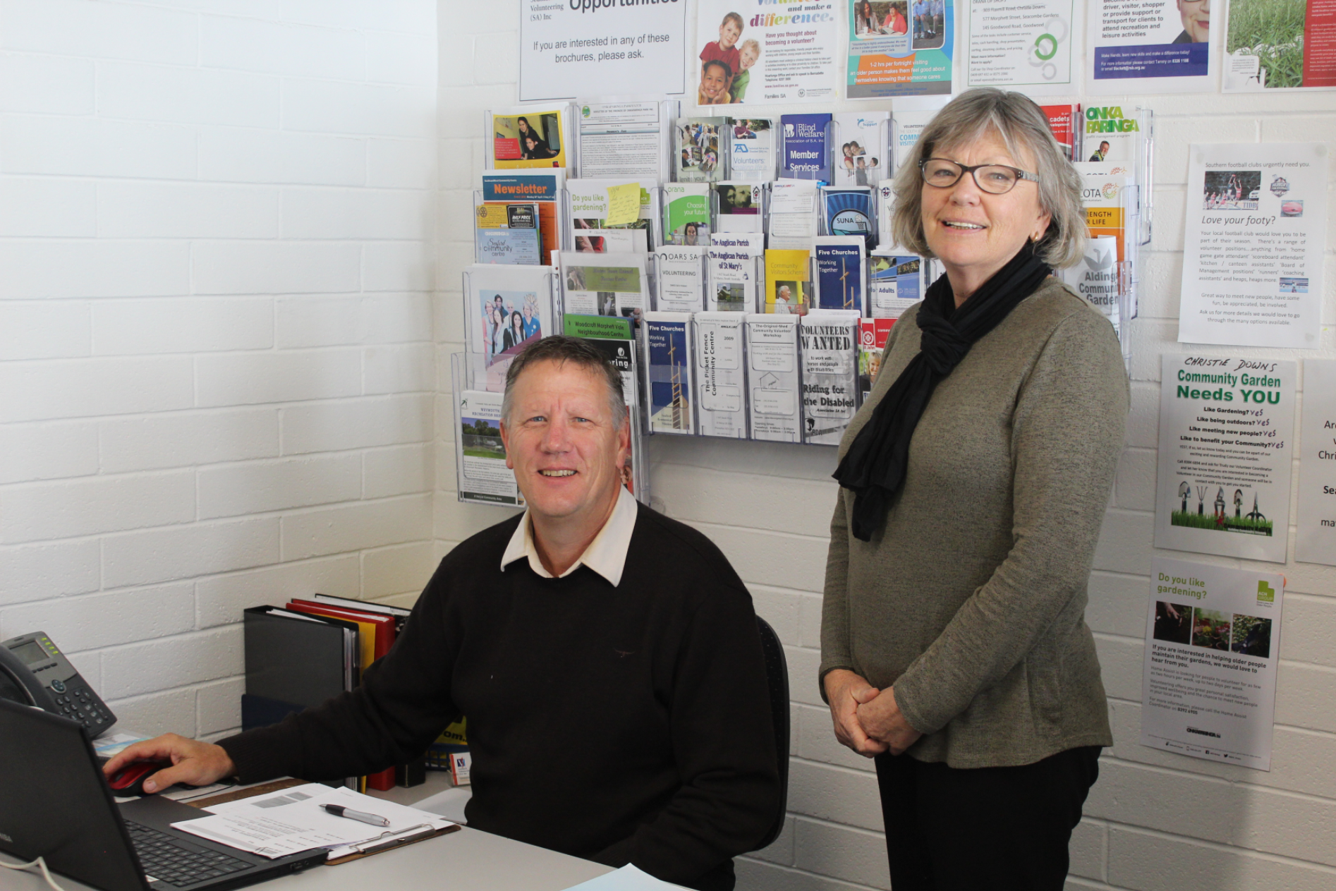 Gayle and Barry from Southern Volunteering (SA) Inc